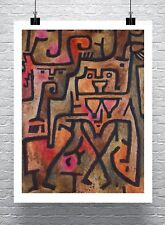 Paul Klee Forest Witches Fine Art Canvas Giclee Print