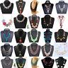 Luxury Women Pendant Crystal Choker Chunky Statement Chain Bib Necklace Jewelry
