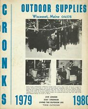 Cronk's Outdoor Supplies 1979-80 Catalog traps trapping