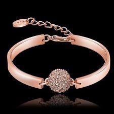 Mode Damenarmband Armkette Rosegold Edelstahl Armreif Herz Liebe Schmuck