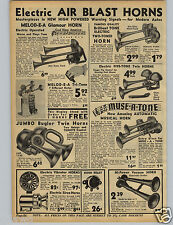 1942 PAPER AD Air Blast Car Auto Horns Melod E A Stand Glamour Jumbo Bugler Twin