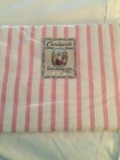 NEW SPRINGMAID Pink & White Striped Full COTTON SHEET Percale Vintage