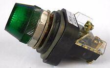 ALLEN BRADLEY GREEN PILOT LIGHT, CAT NO. 800T-Q24, SERIES T, 24V AC/DC