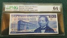 1973 Mexico Pick# 65a, 50 Pesos PMG 64 EPQ Choice Uncirculated!