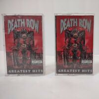 Death Row Greatest Hits Cassette Tape 1 & 2