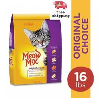 16 Lb Meow Mix Original Choice Dry Cat Food  for Muscle Support Coat Care
