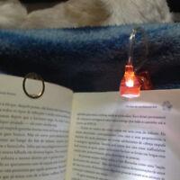 Luce Lettura di Notturna LED Libro Clip Lampada Pinza Robotica io