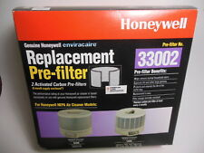 2 pk. Genuine Oem Honeywell Enviracaire 33002 Carbon Pre Filter Fits 62500 12520