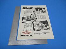1945 Print Ad Continental Motors Corporation Muskegon Red Seal Engines  PA1945
