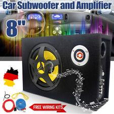 8'' 480 Watt Untersitz Subwoofer Auto Aktiv Bassbox mit Kabelset kompakt Kfz DHL