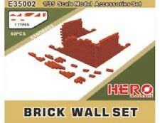 Brick Wall Set 60 pieces 1/35 Scale Model Accessories Hero Hobby Kits E35002
