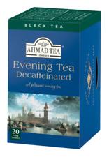 Ahmad Tea Black Decaff.  Evening Tea 6 boxes of 20 Tea Bags, Item #847  NEW