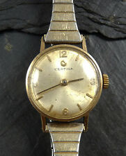 VINTAGE LADIES 1960s CERTINA SOLID 9CT GOLD WRIST WATCH