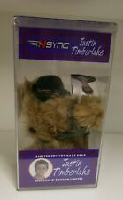 Justin Timberlake Nsync Collectible Limited Edition Rare Bear Still Factory Seal