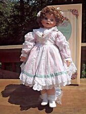 """Morgan Brittany Porcelain Doll Cuddling Love Collection Mary Beth 24"""" 1994 COA"""