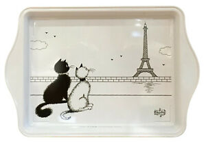 Dubout Cats 2 Cats in Paris Metal Scatter Tray Serving Platter (2 Chatons Paris)