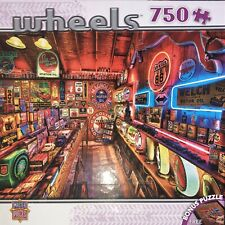 "Masterpieces Wheels 750 Piece Jigsaw Puzzle ""Pump Shop"" New 31579"