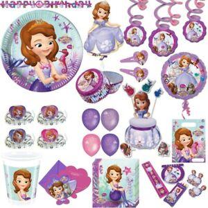 Princess Sofia Kid's Birthday Party Set Birthday Princess Disney
