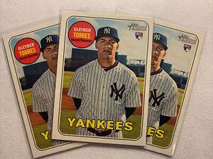 2018 Topps Heritage #603 Gleyber Torres rookie RC card New York Yankees