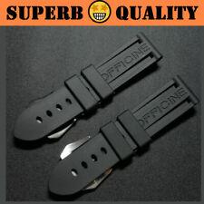 SUB Waterproof Rubber Watchband Strap for Panerai PAM Logo Buckle 22mm 24mm 26mm