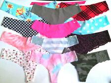 Victorias Secret THONG Panty Panties SEXY No Show Camo Star Cheetah Geo PINK NWT