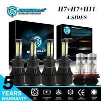 4Side LED Headlight H7+H7+H11 H8 H16JP Fog For Mercedes-Benz B200 E350 E550 C300