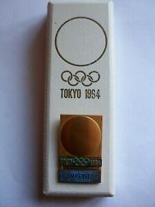 Tamara Press Abzeichen Olympia Tokyo 1964 Bronze vergoldet OVP Japan Competitor