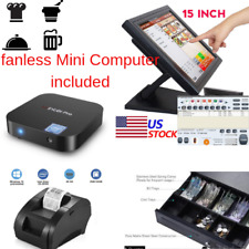 New mini Fanless Pc Entry level Pos Point of Sale System Combo Kit Restaurant