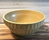 """Vintage Crock Stoneware Mixing Bowl 12.25"""" Diameter Farmhouse Country"""