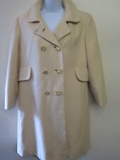 Vintage Regency Cashmere Cream Wool Raincoat Trenchcoat coat UK 6 Euro 34