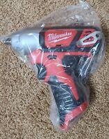 "NEW Milwaukee M12 2463-20 12-Volt 3/8-Inch 3/8"" Impact Wrench w/ Belt Clip"