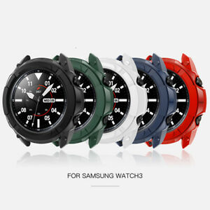 For Samsung Galaxy Watch3 Armor Protective Case Scale Ring Protective Cover
