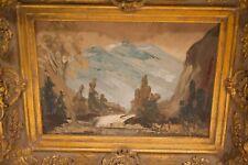 Vintage Oil Painting Mountains, Forest, Landscape Framed Signed