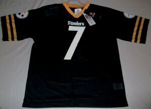 Ben Roethlisberger #7 Pittsburgh Steelers Jersey Youth XL 18-20 Black New NFL