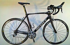 2012 Scott Foil 20 XL 58cm Road Bike, Full Ultegra, Mavic Cosmic Elite, Aerobars