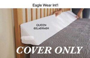 Mattress wedge COVER, QUEEN No Zipper Multiwash
