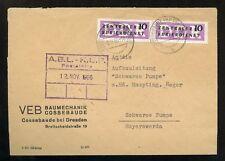 DDR-DIENST Nr.6 PAAR BRIEF VEB BAU COSSEBAUDE 8.11.1956 !!! (953570)