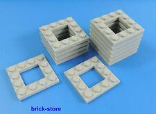 LEGO / 4x4 plaques gris clair avec trou / 12 pièces