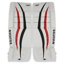 "New Vaughn V7 Xf youth goalie leg pads Black/Red 22""+2 ice hockey goal Velocity"