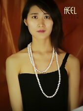 Freshwater Baroque Pearl Necklace Long Chain Class Retro Wedding Gift 150cm TZ1