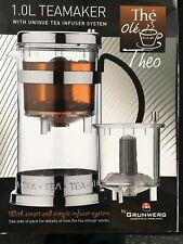 Grunwerg The Ole Theo Teamaker Tea Infuser Glass Pot Teapot 1L ☕️