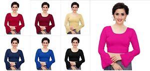 Lycra Saree Blouse Stitched Indian Designer Wedding Wear Full sleeve  Blouse Top