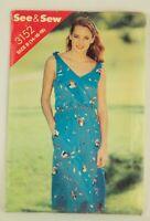See & Sew Pattern Butterick 3152 Misses Sleeveless Dress Size B 14-16-18 UNCUT