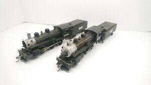 Mehano HO Train AT&SF 2-6-0 Mogul Powered Steam Locomotive and Tender Lot