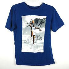 Air Jordan Mens Dunk From Above Shirt Sz S Small Blue White Short Sleeve Jumpman
