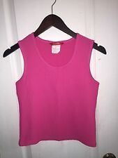 Esprit Hot Pink Sleeveless Stretch Top Blouse Scoop Neck Shirt Youth Girl's L