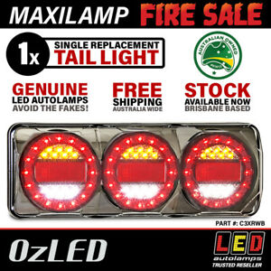 Maxilamp 3 Series STOP/TAIL/INDICATOR/REVERSE LED Combination Tail Light (Single