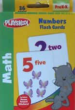 Cards Learning NUMBERS Math Playskool Educational Games Flash Deck NEW