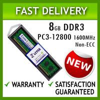 8GB DDR3 Memory RAM for Desktop, PC3-12800U, 1600MHz Non-ECC Unbuffered/Lot