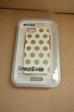 Incase iPhone 5 / 5S, and iPhone SE Snap Case White / Gold Dots CL69105